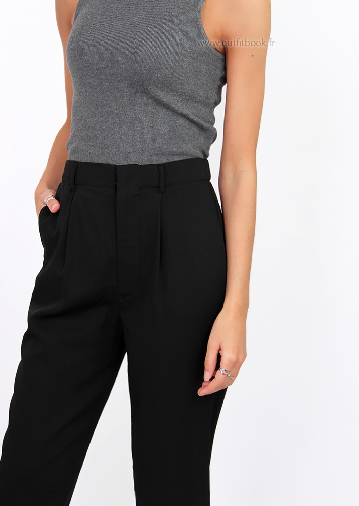 Black Tailored Trousers Outfitbook