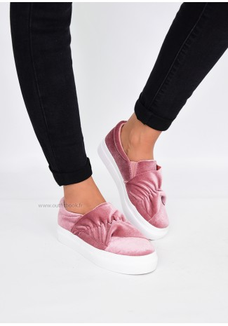 Slip on rose à volants