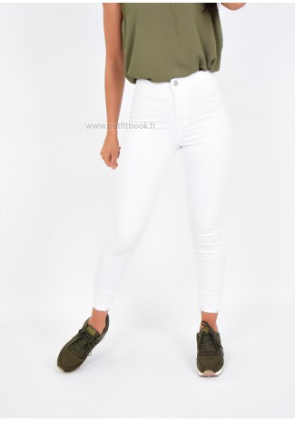 Jegging blanc taille haute