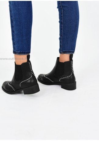 Bottines Chelsea cloutées