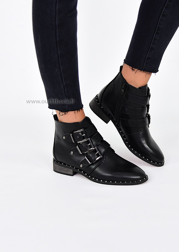 Bottines Cloutees Avec Boucles Outfitbook
