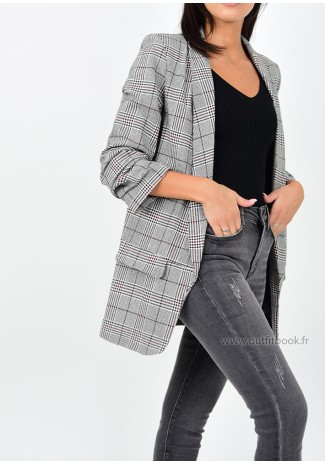 Blazer à carreaux