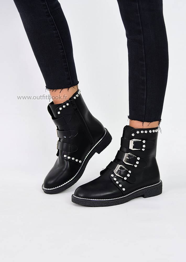 Bottines avec clous