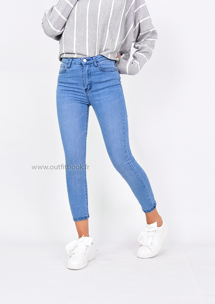 c07fcd9a1e2a4 Jean skinny taille haute - OUTFITBOOK