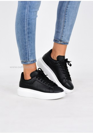 Black Platforme Trainers