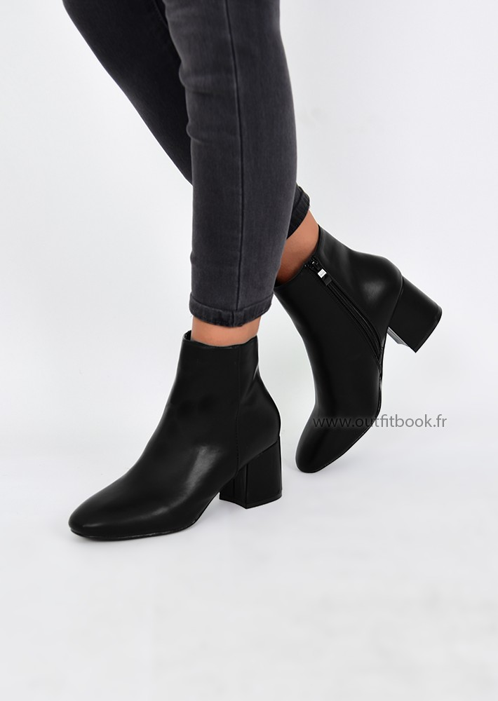Bottines à talon épais