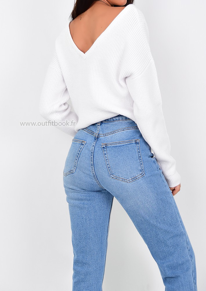 2b4712d9995 Knit Jumper in White - OUTFITBOOK