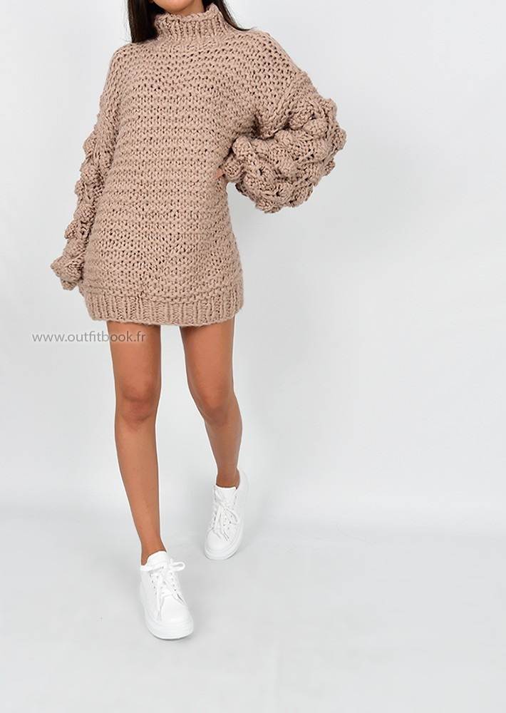 ebfb2b2c2ba Hand knitted jumper dress - OUTFITBOOK