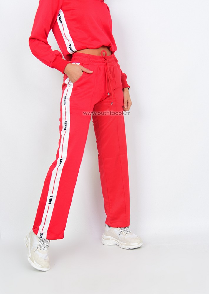 pantalon jogging rouge