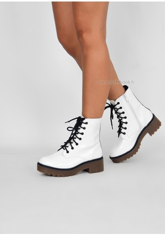 Bottines blanches à plateforme
