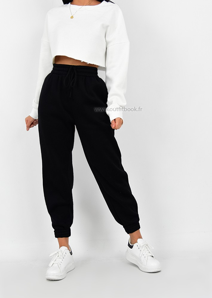 black jogger  outfitbook