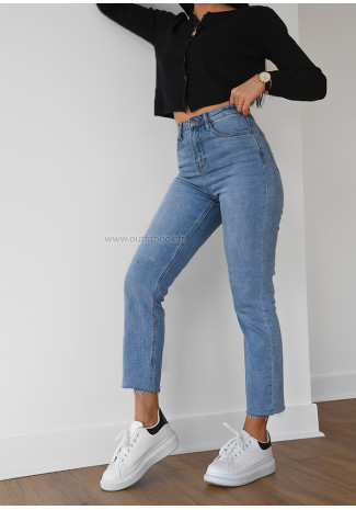 High waisted mom fit jeans