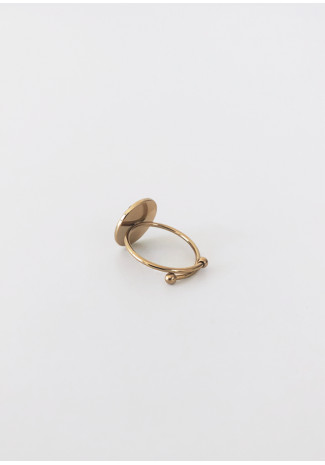 Ring with black stone detail