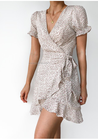Wrap dress in floral print