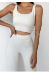 Co-ord set top and trousers in beige