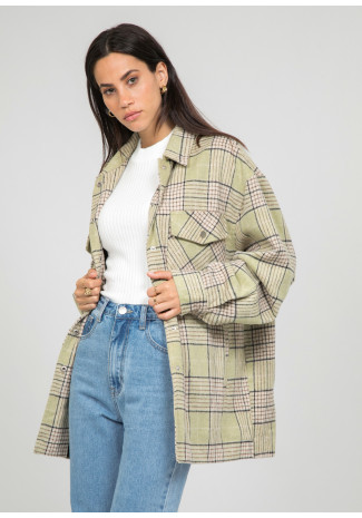 Light green check Jacket
