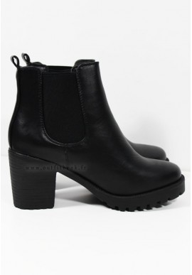 Bottines à talon noires